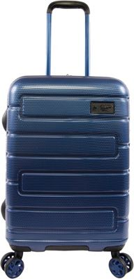 Original Penguin Luggage Crimson 21 inch Expandable Hardside Carry-On Spinner Luggage Metallic Blue - Original Penguin Luggage Hardside Carry-On