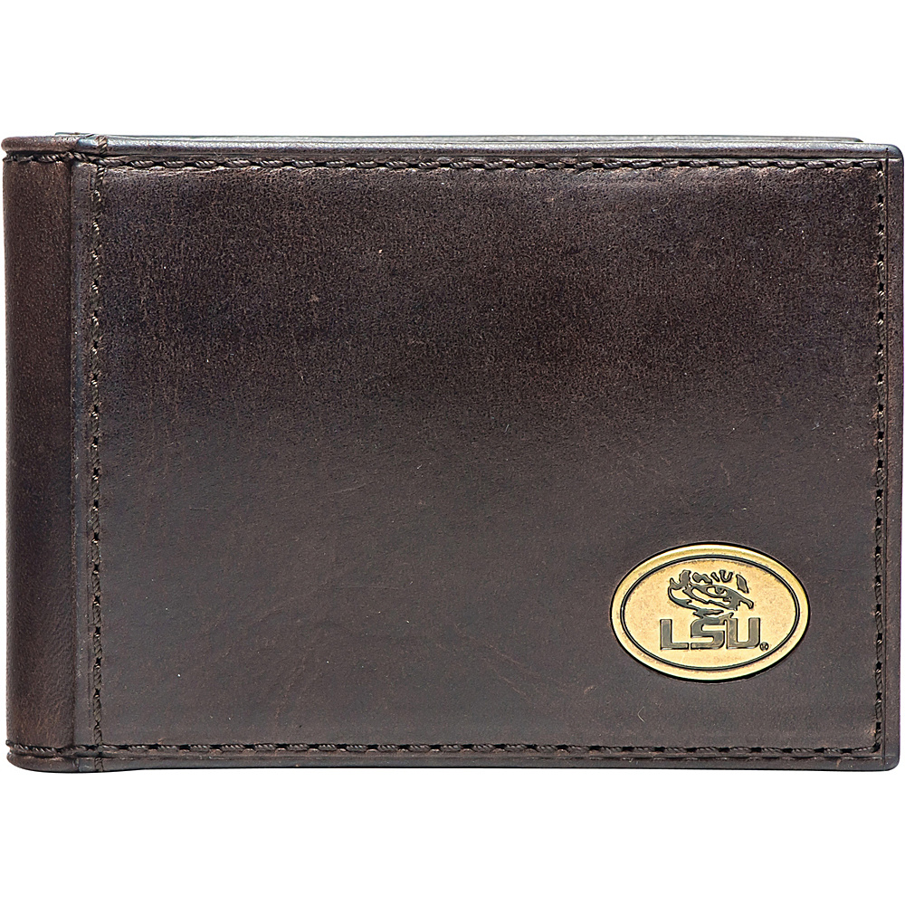 Jack Mason League NCAA Legacy Flip Bifold Front Pocket Wallet LSU - Jack Mason League Mens Wallets - Work Bags & Briefcases, Men's Wallets