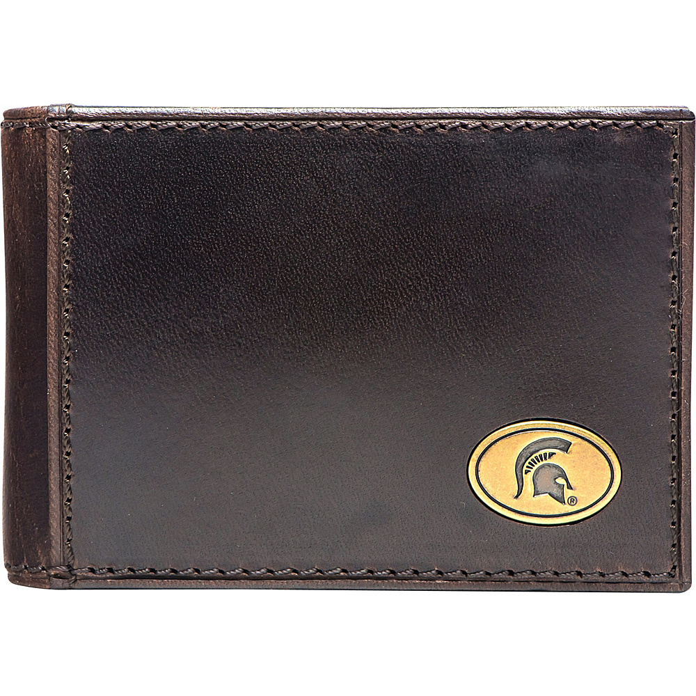 Jack Mason League NCAA Legacy Flip Bifold Front Pocket Wallet Michigan State - Jack Mason League Mens Wallets - Work Bags & Briefcases, Men's Wallets