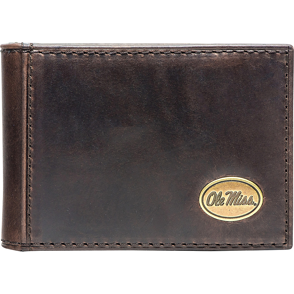 Jack Mason League NCAA Legacy Flip Bifold Front Pocket Wallet Ole Miss - Jack Mason League Mens Wallets - Work Bags & Briefcases, Men's Wallets