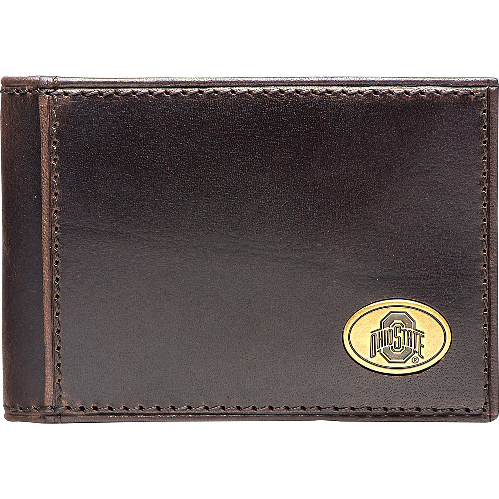 Jack Mason League NCAA Legacy Flip Bifold Front Pocket Wallet Ohio State - Jack Mason League Mens Wallets - Work Bags & Briefcases, Men's Wallets