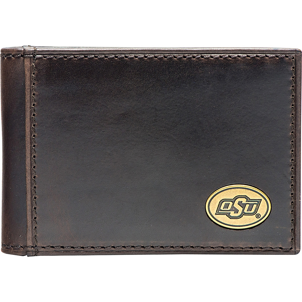 Jack Mason League NCAA Legacy Flip Bifold Front Pocket Wallet Oklahoma State - Jack Mason League Mens Wallets - Work Bags & Briefcases, Men's Wallets