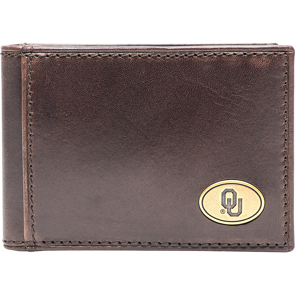Jack Mason League NCAA Legacy Flip Bifold Front Pocket Wallet Oklahoma - Jack Mason League Mens Wallets - Work Bags & Briefcases, Men's Wallets