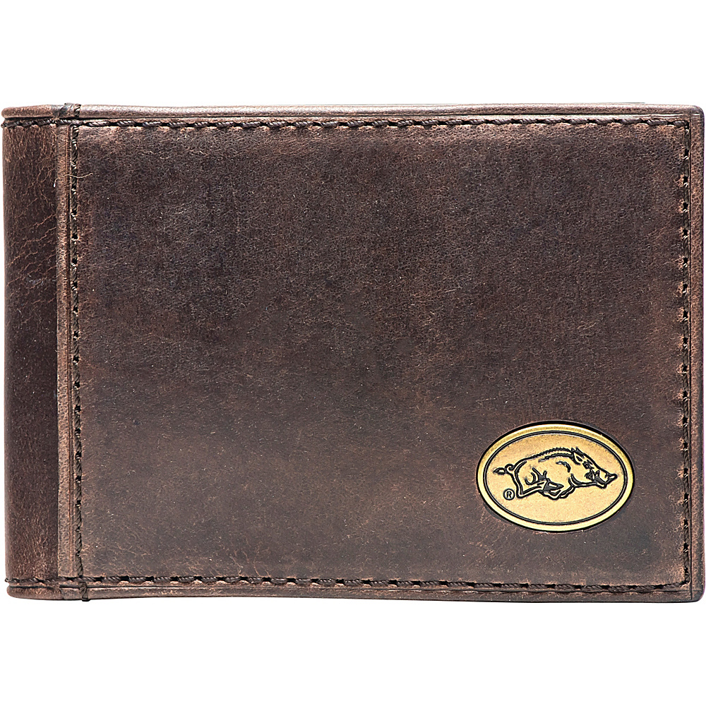 Jack Mason League NCAA Legacy Flip Bifold Front Pocket Wallet Arkansas - Jack Mason League Mens Wallets - Work Bags & Briefcases, Men's Wallets