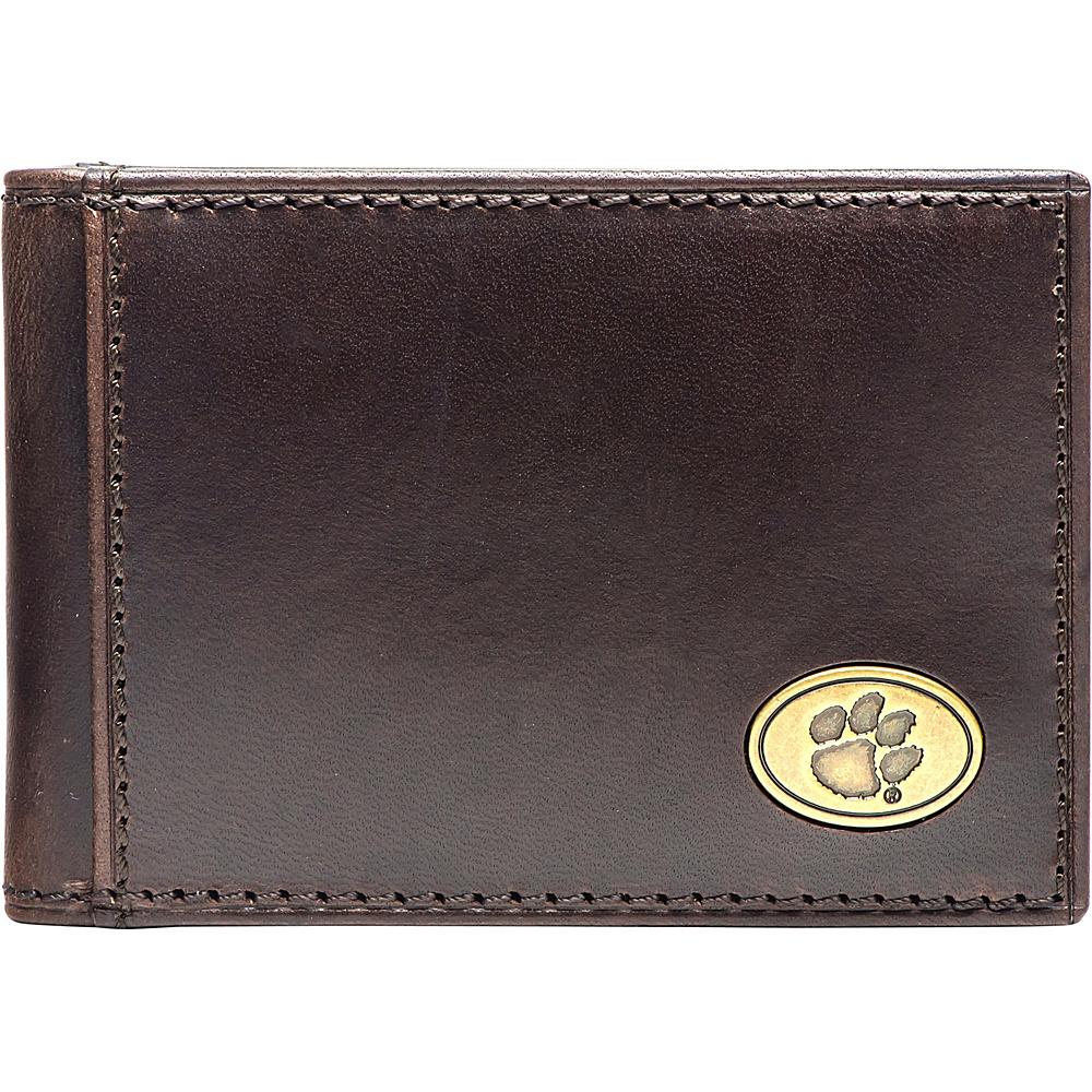 Jack Mason League NCAA Legacy Flip Bifold Front Pocket Wallet Clemson - Jack Mason League Mens Wallets - Work Bags & Briefcases, Men's Wallets