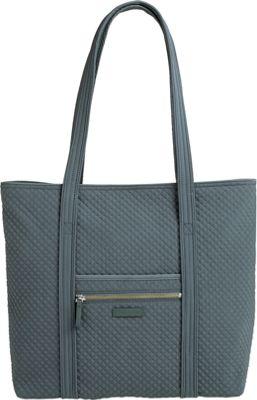 Vera Bradley Iconic Vera Tote - Solids Charcoal - Vera Bradley Fabric Handbags