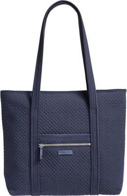 Vera Bradley Iconic Vera Tote - Solids Classic Navy - Vera Bradley Fabric Handbags