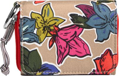 Vera Bradley Lighten Up RFID Card Case Falling Flowers Neutral - Vera Bradley Women's Wallets