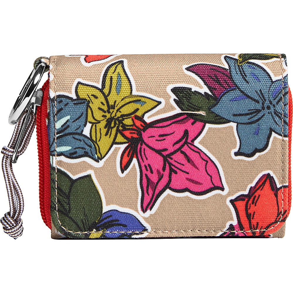 Vera Bradley Lighten Up RFID Card Case Falling Flowers Neutral - Vera Bradley Womens Wallets - Women's SLG, Women's Wallets