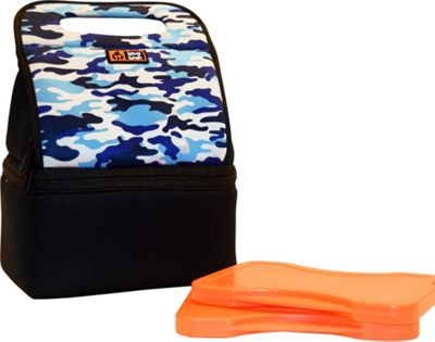 Lava Lunch Duo Heated Lunch Tote Blue Camoflauge - Lava Lunch Travel Coolers