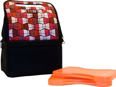 Lava Lunch Duo Heated Lunch Tote Pink Geometric - Lava Lunch Travel Coolers