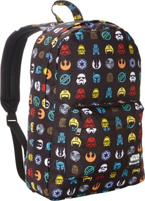 Loungefly Star Wars Multi Symbol Print Laptop Backpack Multi Colored - Loungefly Laptop Backpacks