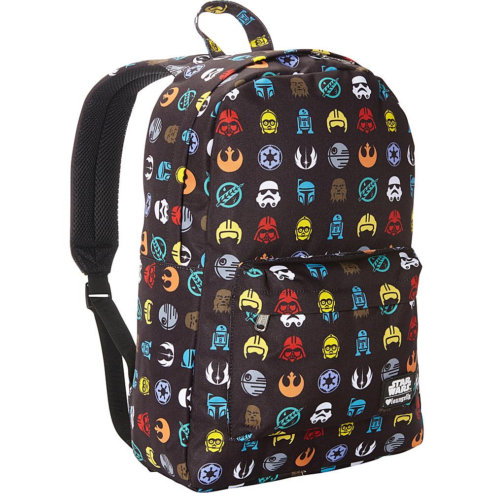 Loungefly Star Wars Multi Symbol Print Laptop Backpack Multi Colored - Loungefly Laptop Backpacks