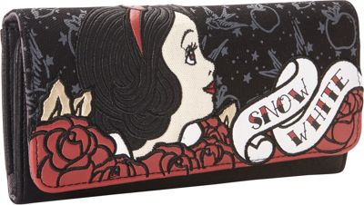 Loungefly Snow White Tattoo Flash Print Wallet Black/Red - Loungefly Women's Wallets