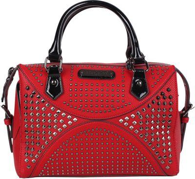 Nicole Lee Sanne Boston Shoulder Bag Red - Nicole Lee Manmade Handbags
