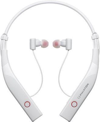 Phiaton Bluetooth 100 Wireless & Active Noise Cancelling Neckband Style Earphones White - Phiaton Headphones & Speakers
