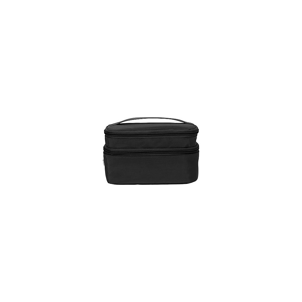baggallini Small Train Case - Retired Colors Black/Sand - baggallini Toiletry Kits - Travel Accessories, Toiletry Kits