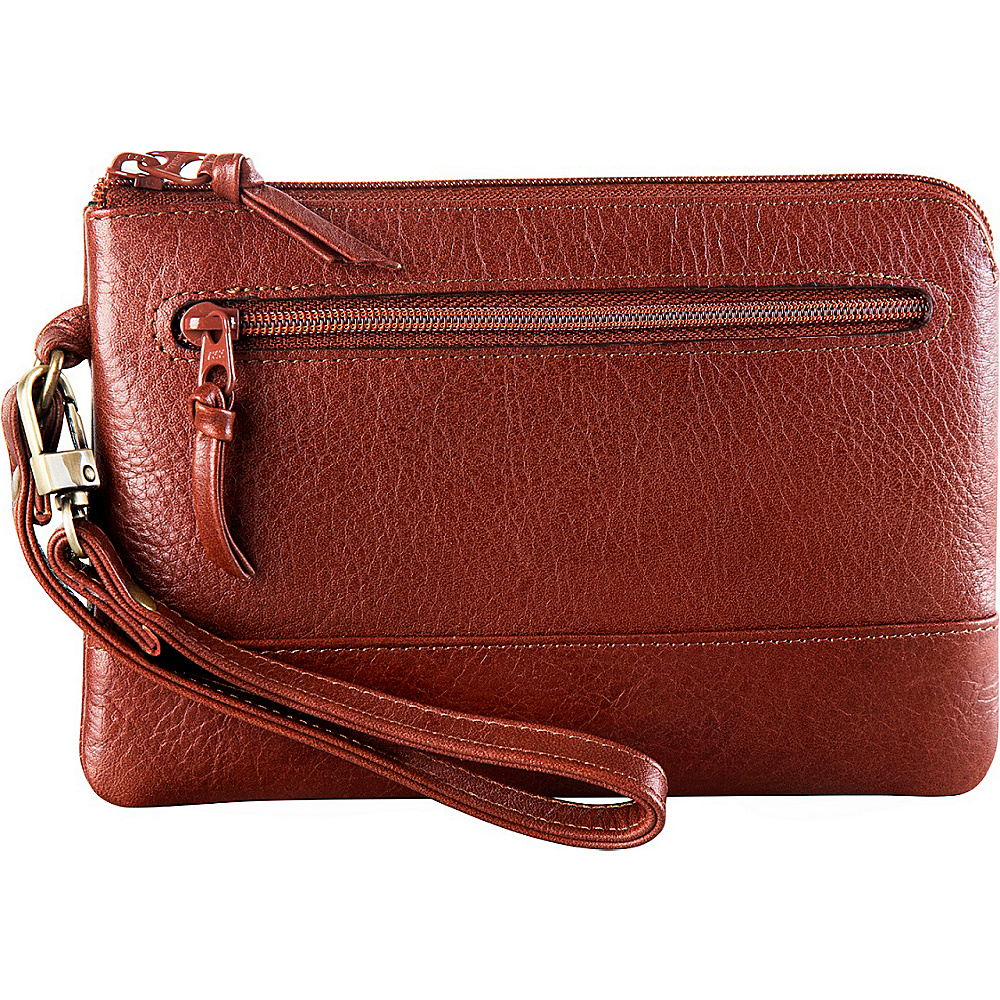 Derek Alexander Smart Phone Friendly Wristlet Clutch Whisky - Derek Alexander Leather Handbags - Handbags, Leather Handbags