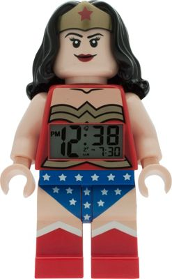 LEGO Watches Wonder Woman Kids Minifigure Light Up Alarm Clock Red - LEGO Watches Travel Electronics