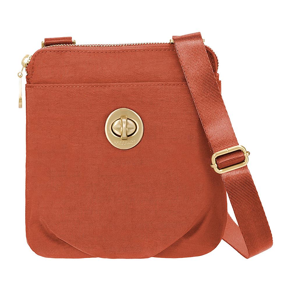 baggallini RFID Mini Hanover Crossbody Adobe - baggallini Fabric Handbags - Handbags, Fabric Handbags