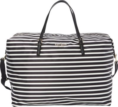 kate spade new york Watson Lane Large Lyla Weekender Black/Clotted Cream - kate spade new york Travel Duffels 10586434