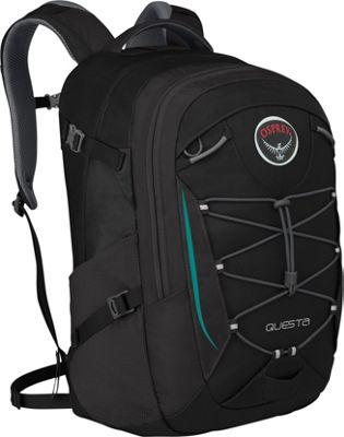 Osprey Questa Laptop Backpack- Discontinued Colors Black - Osprey Business & Laptop Backpacks