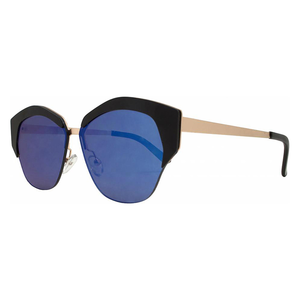 SW Global Geo Frame Horned Rim UV400 Sunglasses Blue - SW Global Eyewear - Fashion Accessories, Eyewear
