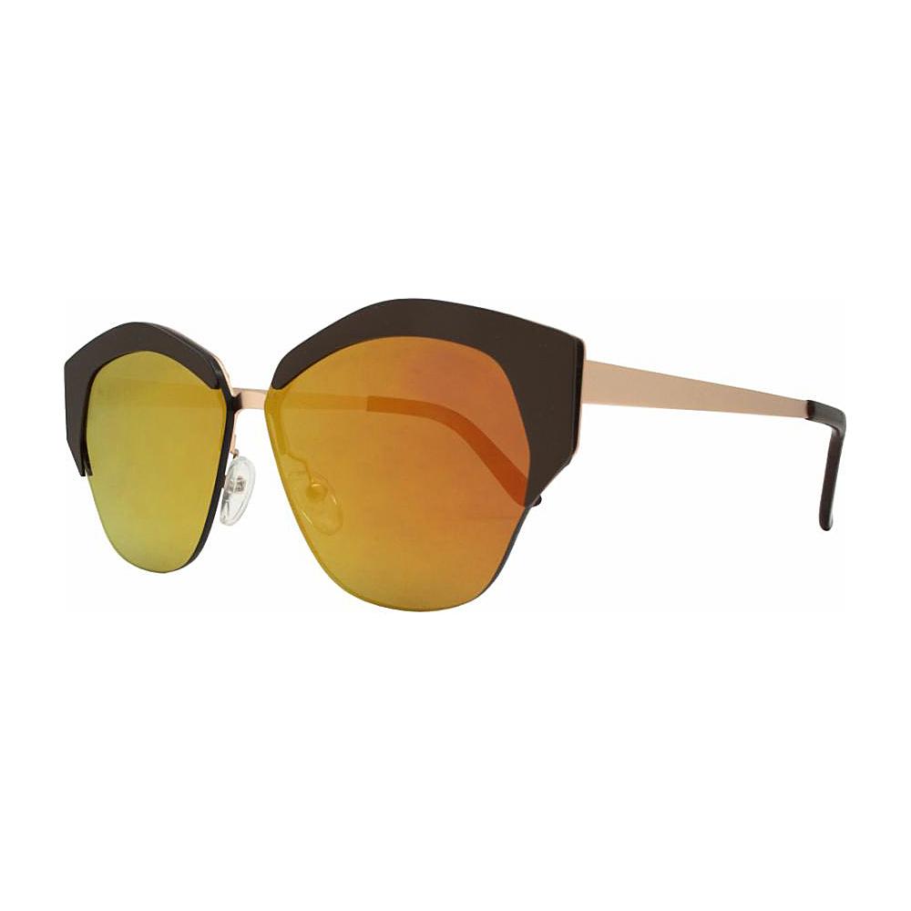 SW Global Geo Frame Horned Rim UV400 Sunglasses Orange - SW Global Eyewear - Fashion Accessories, Eyewear