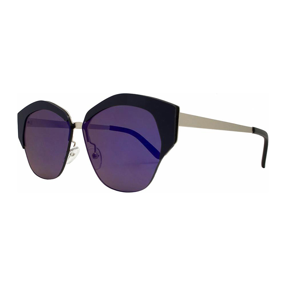 SW Global Geo Frame Horned Rim UV400 Sunglasses Purple - SW Global Eyewear - Fashion Accessories, Eyewear