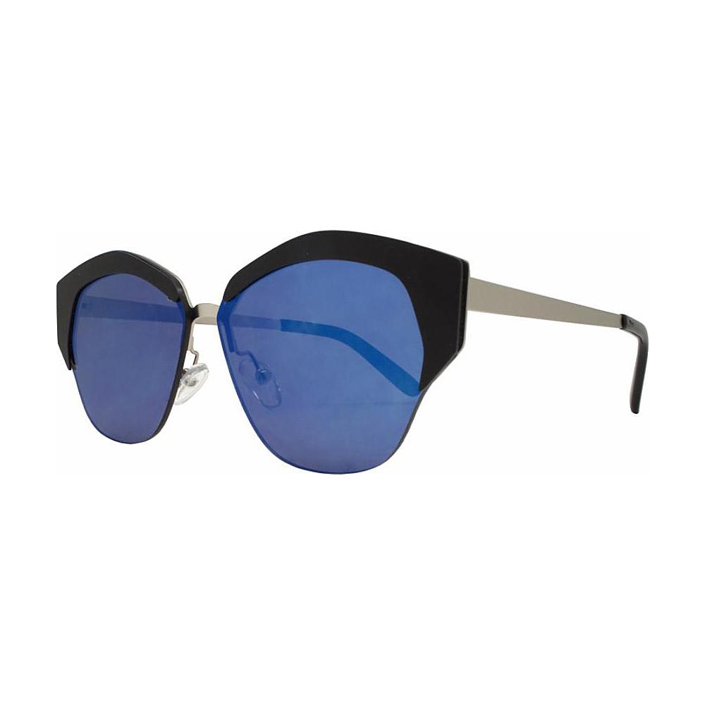 SW Global Geo Frame Horned Rim UV400 Sunglasses Black - SW Global Eyewear - Fashion Accessories, Eyewear