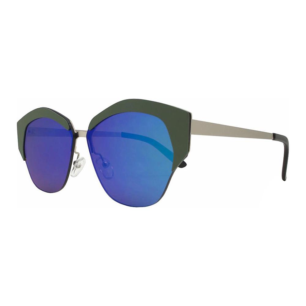 SW Global Geo Frame Horned Rim UV400 Sunglasses Green - SW Global Eyewear - Fashion Accessories, Eyewear