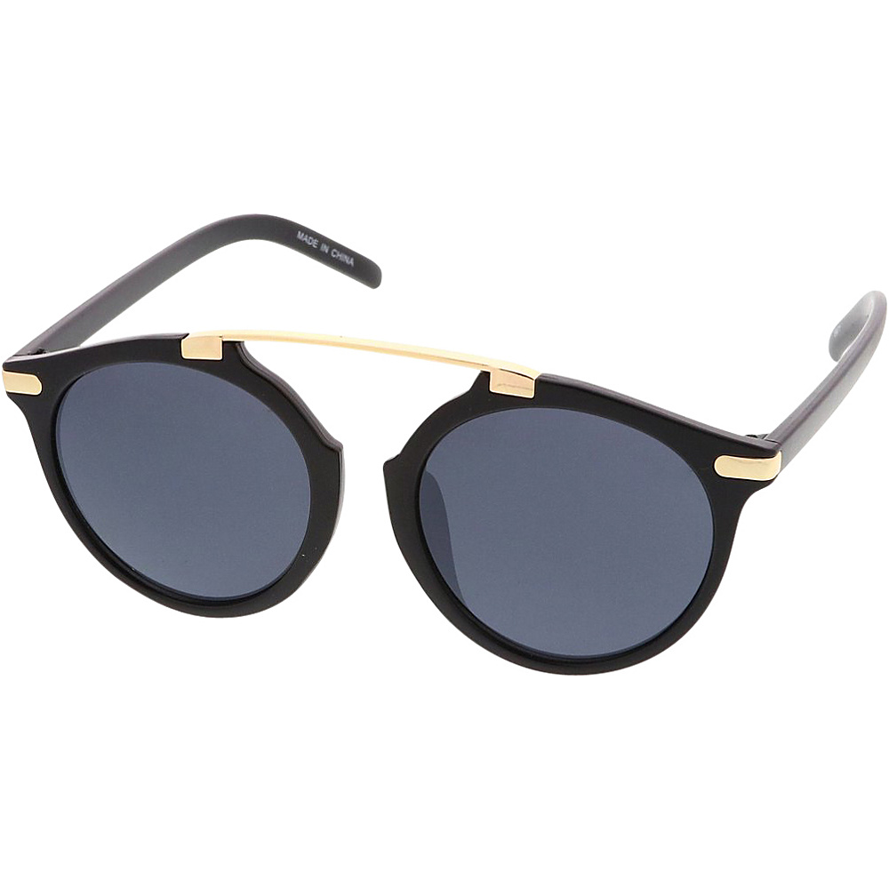 SW Global Womens Retro Fashion Dapper Frame Brow Bar Sunglasses Model 71 Black - SW Global Eyewear - Fashion Accessories, Eyewear
