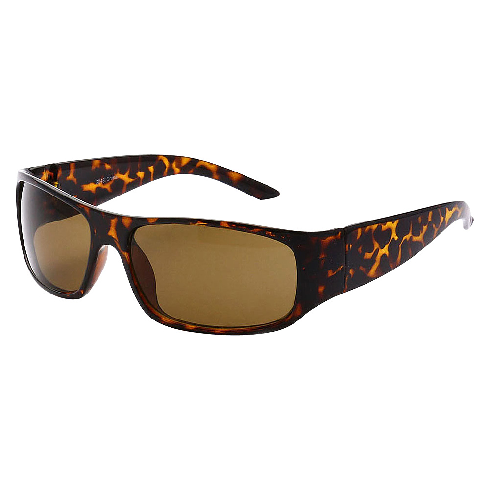 SW Global Sporty Square Framed UV400 Sunglasses Leopard Brown - SW Global Eyewear - Fashion Accessories, Eyewear