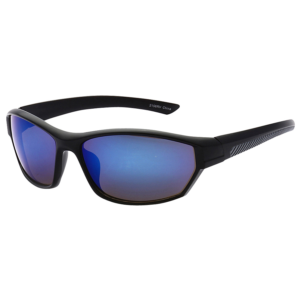 SW Global Full Framed Outdoors Sports UV400 Sunglasses Black Black Blue - SW Global Eyewear - Fashion Accessories, Eyewear