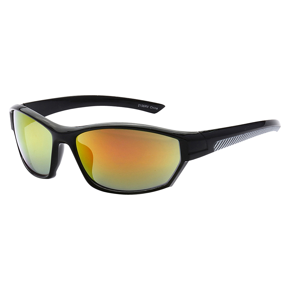 SW Global Full Framed Outdoors Sports UV400 Sunglasses Black Grey Yellow Orange - SW Global Eyewear - Fashion Accessories, Eyewear
