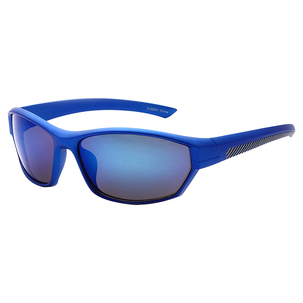 SW Global Full Framed Outdoors Sports UV400 Sunglasses Blue Grey Blue - SW Global Eyewear - Fashion Accessories, Eyewear