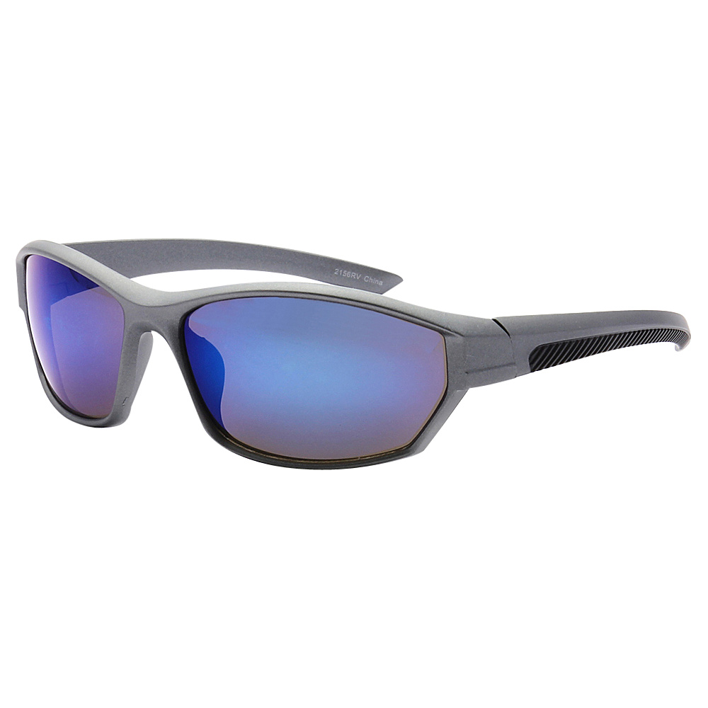 SW Global Full Framed Outdoors Sports UV400 Sunglasses Grey Black Blue - SW Global Eyewear - Fashion Accessories, Eyewear