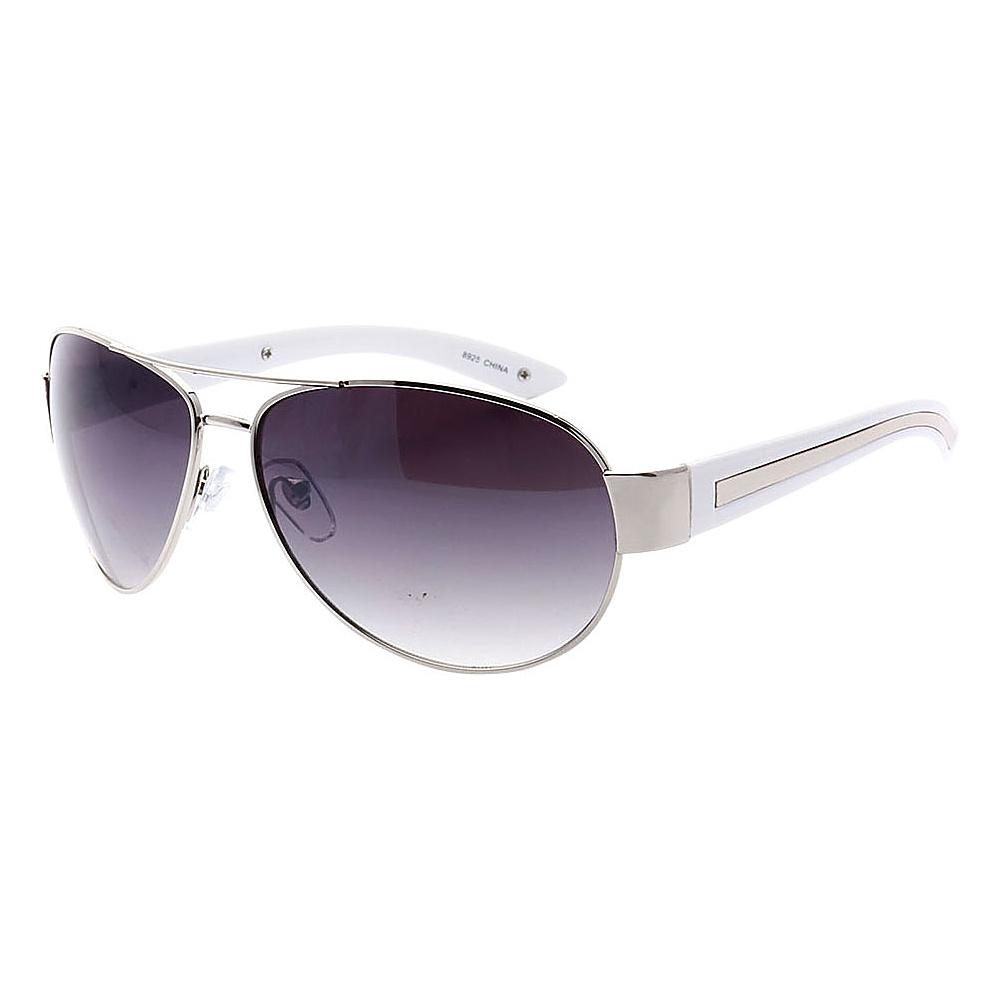 SW Global Full Metal Frame Sporty Aviator UV400 Sunglasses Silver White Gradient - SW Global Eyewear - Fashion Accessories, Eyewear