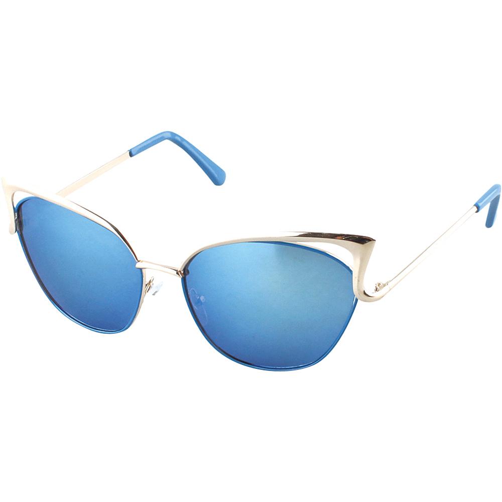 SW Global Womens Urban Street Fashion Metal Frame High Tip Cat Eye Sunglasses Silver - SW Global Eyewear - Fashion Accessories, Eyewear