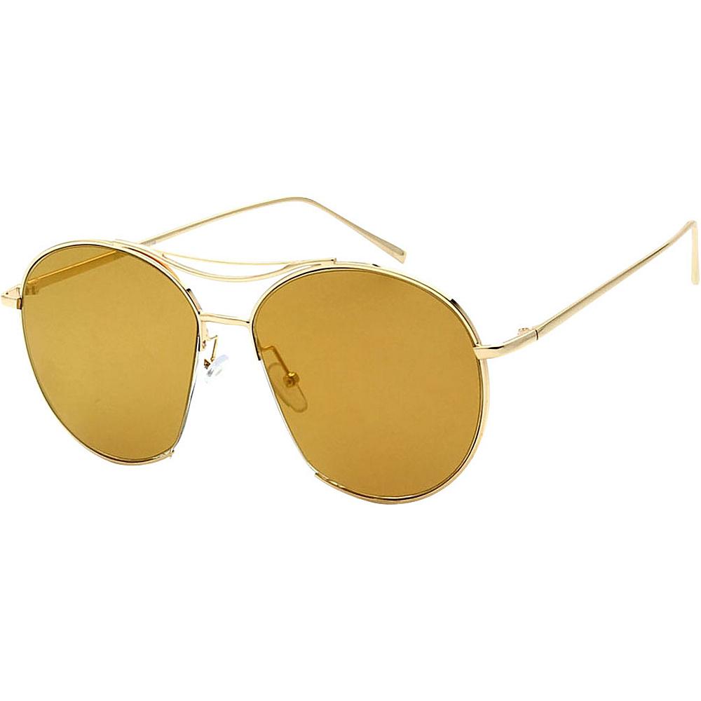 SW Global Womens Sophisticated Cut Out Aviator Sunglasses Brown - SW Global Eyewear - Fashion Accessories, Eyewear