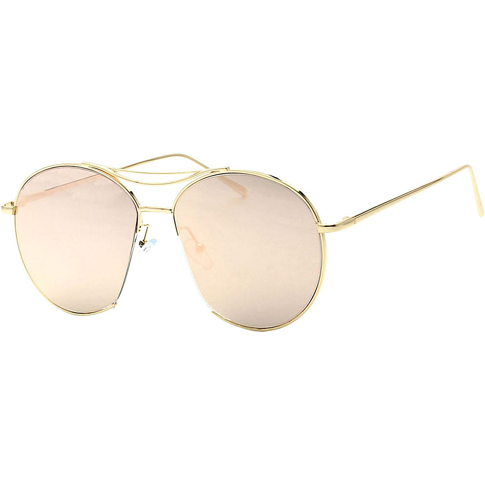 SW Global Womens Sophisticated Cut Out Aviator Sunglasses Pink - SW Global Eyewear - Fashion Accessories, Eyewear