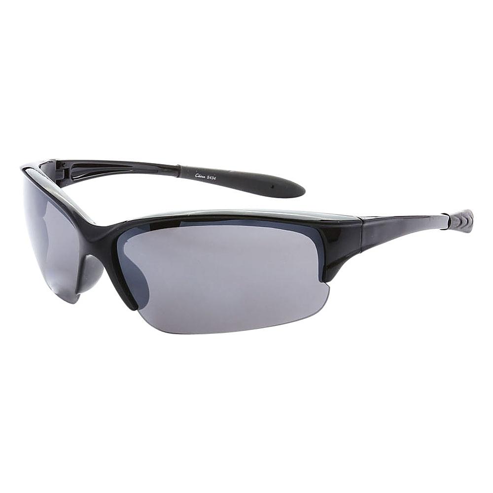 SW Global Half Framed Outdoors Sports UV400 Sunglasses Black Black - SW Global Eyewear - Fashion Accessories, Eyewear