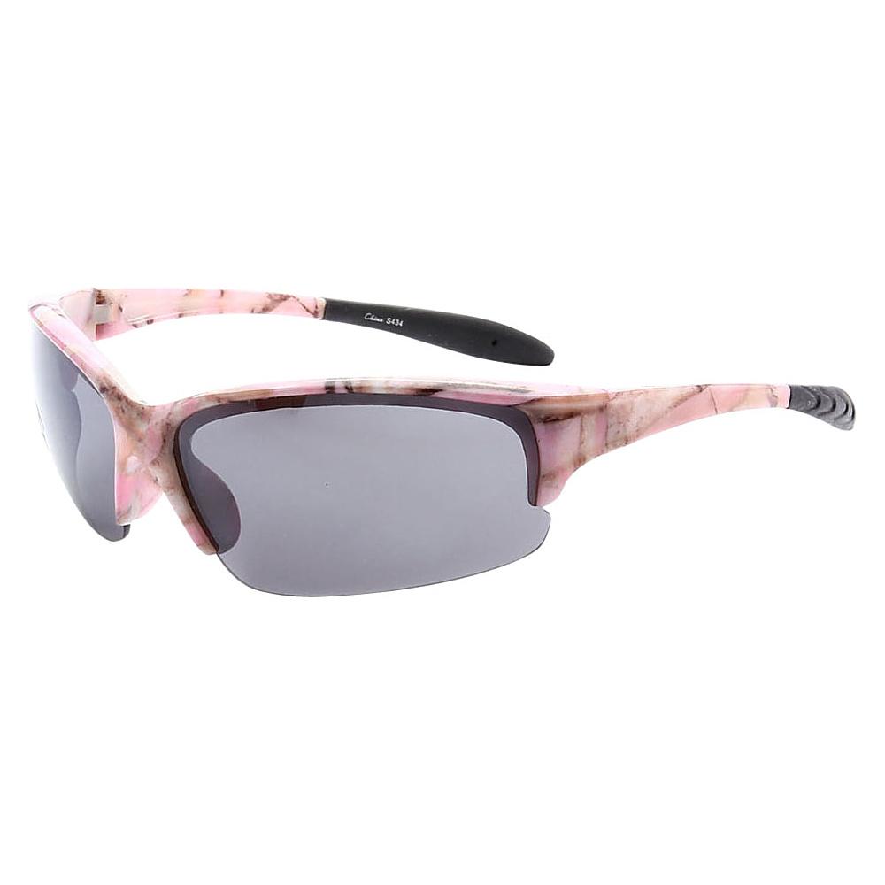 SW Global Half Framed Outdoors Sports UV400 Sunglasses Pink Stone Black - SW Global Eyewear - Fashion Accessories, Eyewear