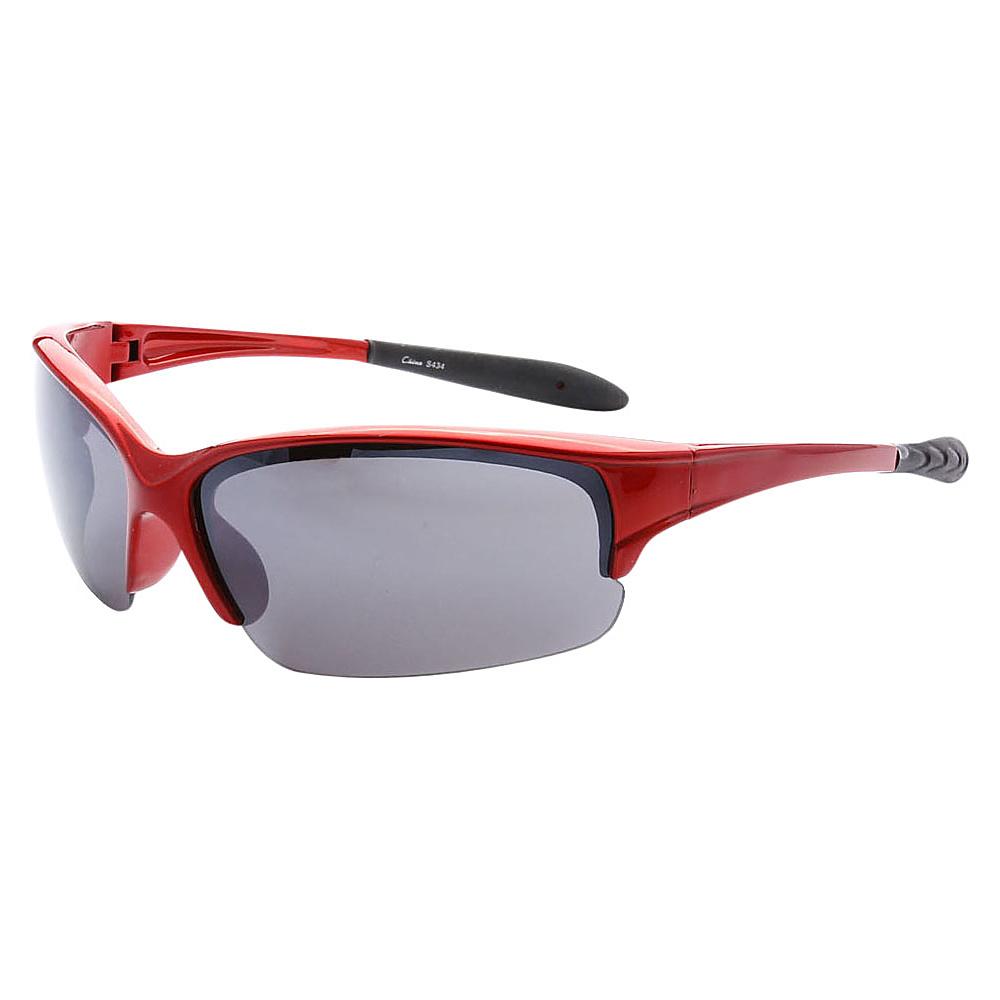 SW Global Half Framed Outdoors Sports UV400 Sunglasses Red Black - SW Global Eyewear - Fashion Accessories, Eyewear