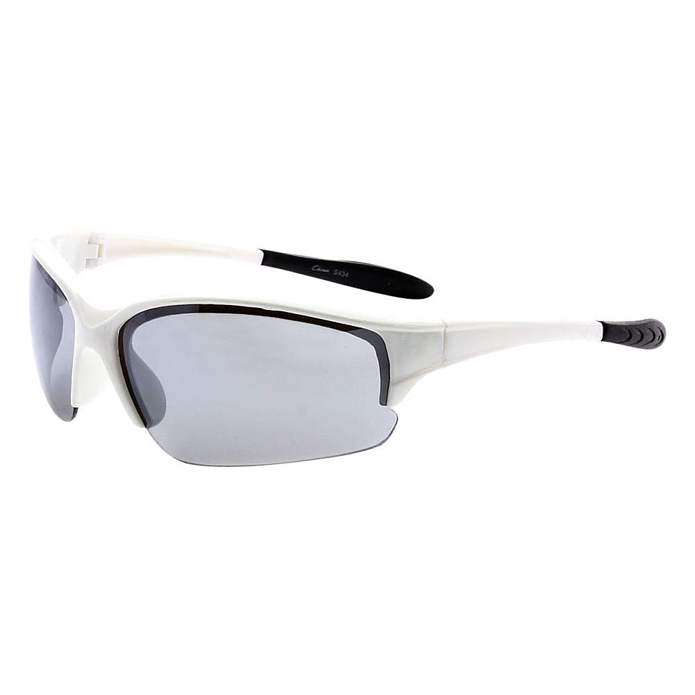 SW Global Half Framed Outdoors Sports UV400 Sunglasses White Black - SW Global Eyewear - Fashion Accessories, Eyewear