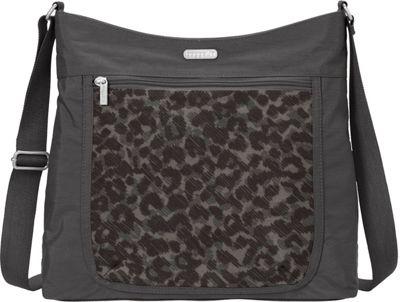 baggallini Pocket Hobo Charcoal Cheetah - baggallini Fabric Handbags