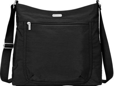 baggallini Pocket Hobo Black/Sand Lining - baggallini Fabric Handbags