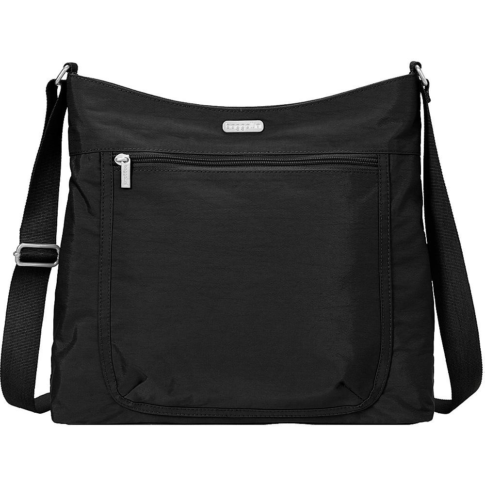 baggallini Pocket Hobo Black/Sand Lining - baggallini Fabric Handbags - Handbags, Fabric Handbags