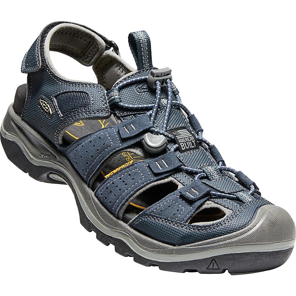 KEEN Mens Rialto H2 Sandal 12 - Dress Blues/Neutral Gray - KEEN Mens Footwear - Apparel & Footwear, Men's Footwear