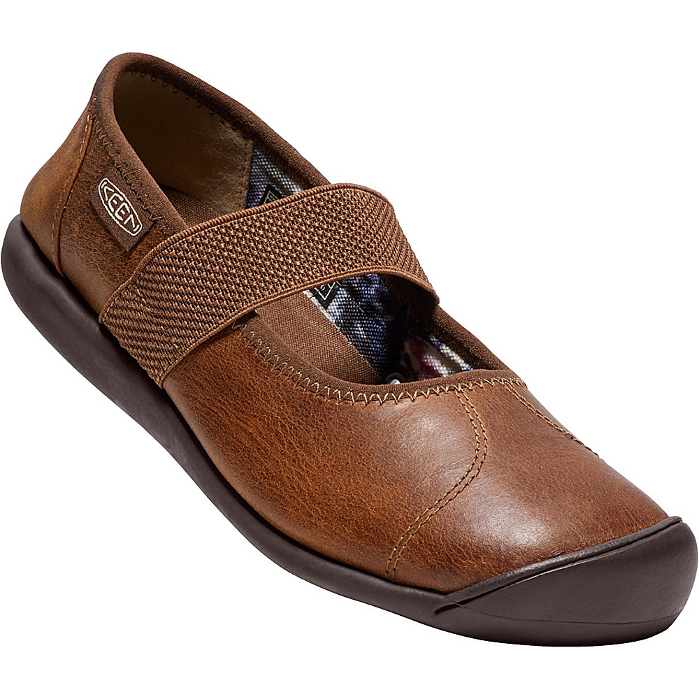 KEEN Womens Sienna MJ Leather Slip-On 7 - Grand Canyon/Monks Robe - KEEN Womens Footwear - Apparel & Footwear, Women's Footwear